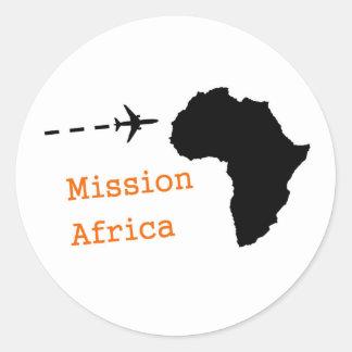 Misión África Pegatina Redonda