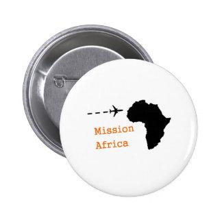 Misión África Pin Redondo De 2 Pulgadas