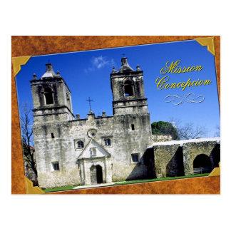 Misión Concepción en San Antonio, Tejas Tarjeta Postal
