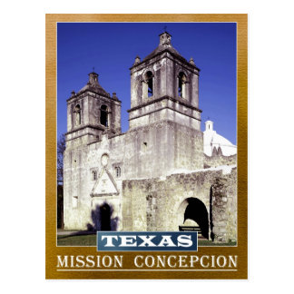 Misión Concepción en San Antonio, Tejas Tarjetas Postales