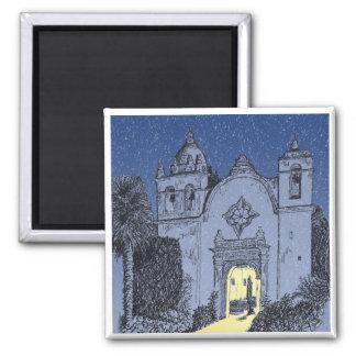 Misión de Carmel en el navidad Imán De Nevera