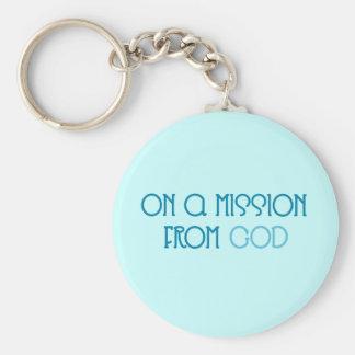Misión de dios llavero redondo tipo pin