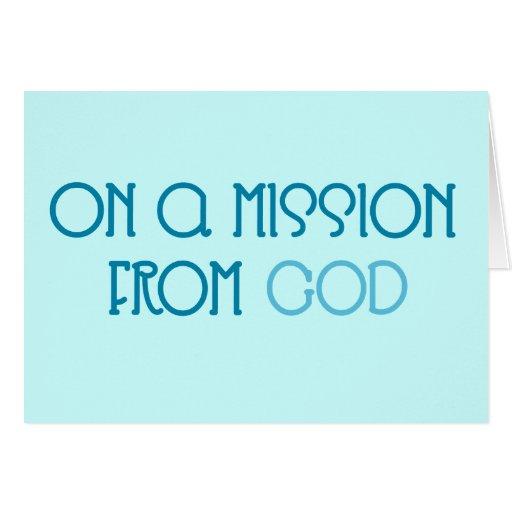 Misión de dios tarjeta de felicitación