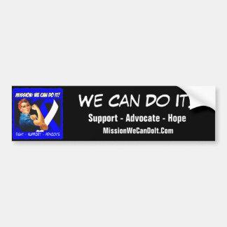 Misión de la enfermedad del ALS Lou Gehrigs podemo Pegatina Para Auto