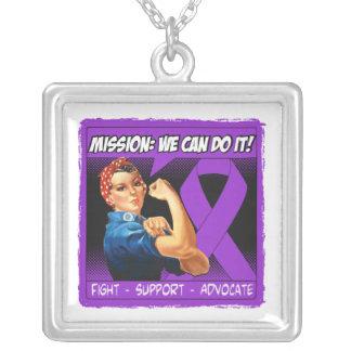 Misión de la enfermedad del Fibromyalgia podemos h Pendientes Personalizados
