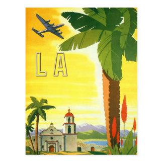 Misión de Los Ángeles del vintage, cambio de Tarjeta Postal