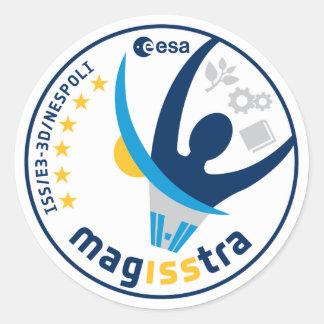 Misión de MagISStra en el ISS Etiquetas Redondas