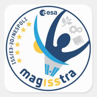 Misión de MagISStra en el ISS Pegatinas Cuadradases