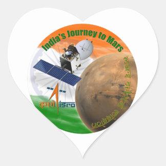 Misión de Mars Orbiter: ISRO Pegatina En Forma De Corazón