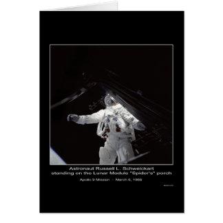 Misión de Russell L. Schweickart Apolo 9 del astro Tarjeta De Felicitación