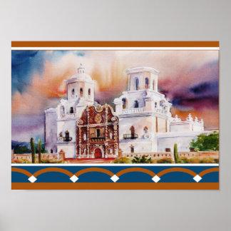 Misión de San Javier Poster