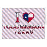 Misión de Todd, Tejas Felicitación