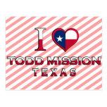 Misión de Todd, Tejas Postales