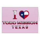Misión de Todd, Tejas Tarjetas