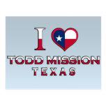 Misión de Todd, Tejas Tarjetas Postales