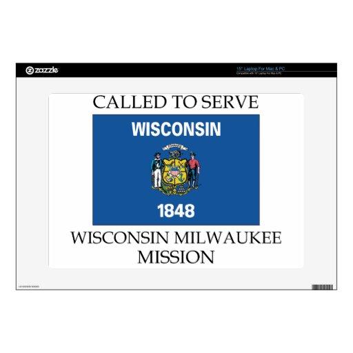 Misión de Wisconsin Milwaukee LDS llamada para ser Skins Para 38,1cm Portátiles