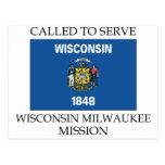Misión de Wisconsin Milwaukee LDS llamada para ser Postales