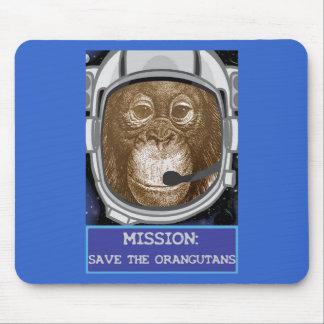 Misión del astronauta del orangután alfombrilla de ratón