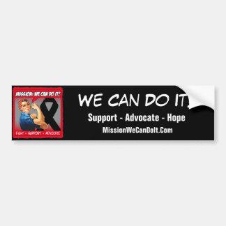 Misión del cáncer del melanoma podemos hacerla pegatina de parachoque