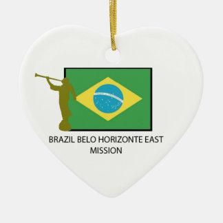 MISIÓN DEL ESTE LDS DEL BRASIL BELO HORIZONTE ADORNO NAVIDEÑO DE CERÁMICA EN FORMA DE CORAZÓN