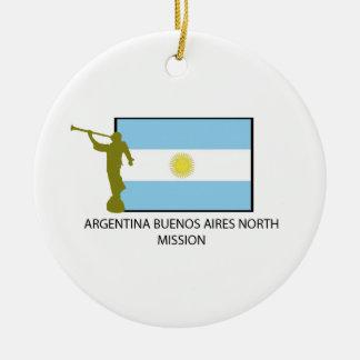 MISIÓN DEL NORTE LDS DE LA ARGENTINA BUENOS AIRES ADORNO NAVIDEÑO REDONDO DE CERÁMICA