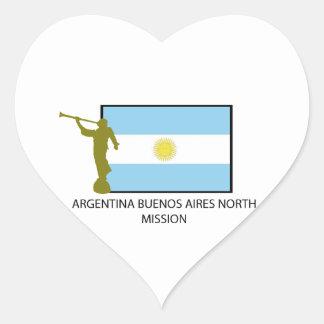 MISIÓN DEL NORTE LDS DE LA ARGENTINA BUENOS AIRES PEGATINA EN FORMA DE CORAZÓN