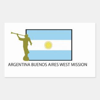 MISIÓN DEL OESTE LDS DE LA ARGENTINA BUENOS AIRES PEGATINA RECTANGULAR