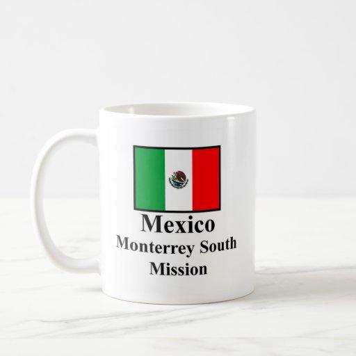 Misión del sur Drinkware de México Monterrey Taza Básica Blanca