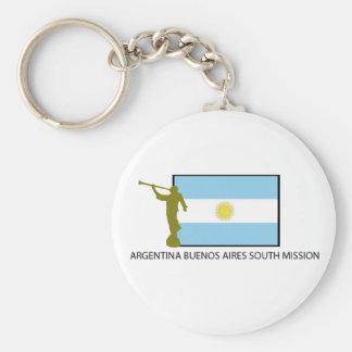 MISIÓN DEL SUR LDS DE ARGENTINA BUENOS AIRES LLAVERO REDONDO TIPO PIN