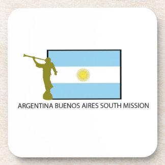 MISIÓN DEL SUR LDS DE ARGENTINA BUENOS AIRES POSAVASOS DE BEBIDA