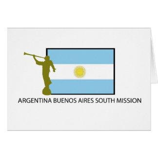MISIÓN DEL SUR LDS DE ARGENTINA BUENOS AIRES TARJETA DE FELICITACIÓN