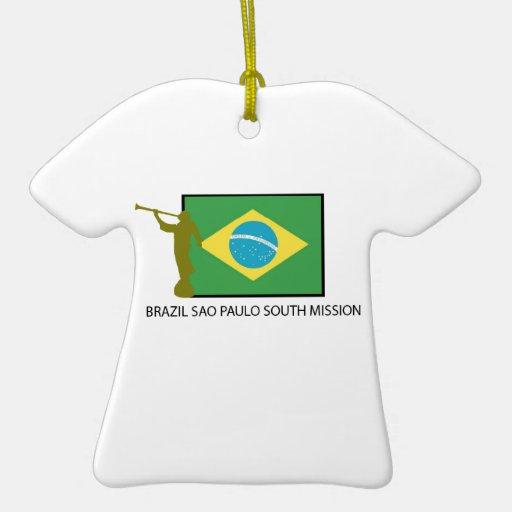 MISIÓN DEL SUR LDS DEL BRASIL SAO PAULO ADORNO DE CERÁMICA EN FORMA DE PLAYERA