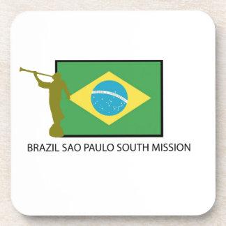 MISIÓN DEL SUR LDS DEL BRASIL SAO PAULO POSAVASOS DE BEBIDAS