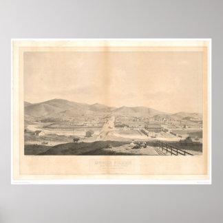 Misión Dolores, San Francisco 1860 (1097A) Póster