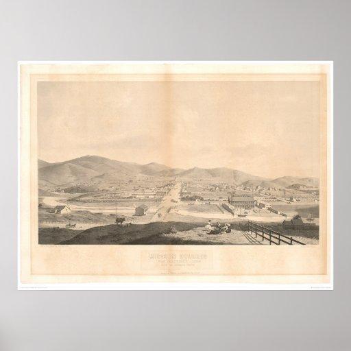 Misión Dolores, San Francisco 1860 (1097A) Poster