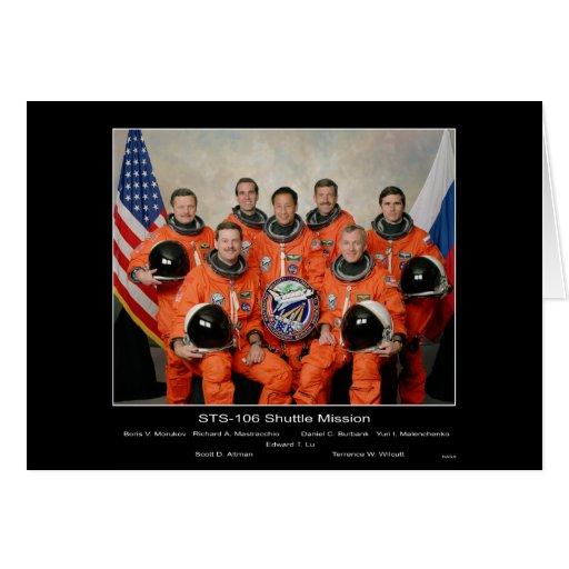 Misión en la que participa un trasbordador STS 106 Tarjeta De Felicitación