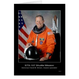 Misión en la que participa un trasbordador STS 107 Felicitacion