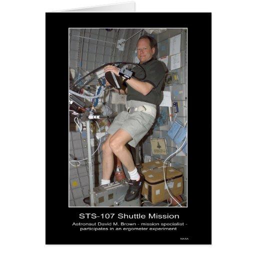 Misión en la que participa un trasbordador STS 107 Tarjeta De Felicitación