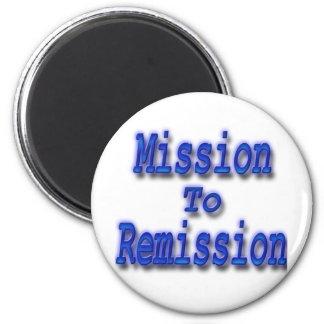 Misión en la remisión azul imán redondo 5 cm