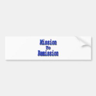 Misión en la remisión azul pegatina para auto