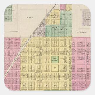 Misión, Galesburg, y Earlton de Osage, Kansas Pegatina Cuadrada