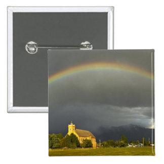 Misión histórica de St Ignatius en St Ignatius, 2 Pin Cuadrada 5 Cm