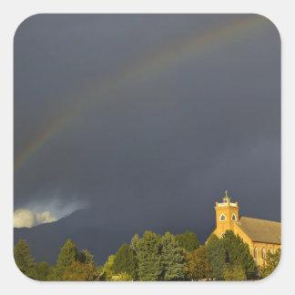 Misión histórica de St Ignatius en St Ignatius, Pegatina Cuadrada