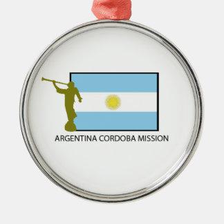 MISIÓN LDS DE LA ARGENTINA CÓRDOBA ADORNO NAVIDEÑO REDONDO DE METAL