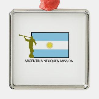 MISIÓN LDS DE LA ARGENTINA NEUQUEN ADORNO NAVIDEÑO CUADRADO DE METAL
