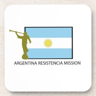 MISIÓN LDS DE LA ARGENTINA RESISTENCIA POSAVASOS DE BEBIDA