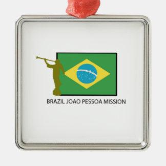 MISIÓN LDS DE PESSOA DE JOAO DEL BRASIL ADORNO NAVIDEÑO CUADRADO DE METAL