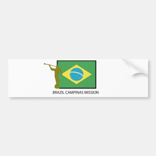 MISIÓN LDS DEL BRASIL CAMPINAS PEGATINA DE PARACHOQUE