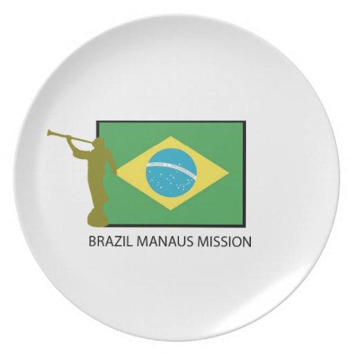 MISIÓN LDS DEL BRASIL MANAUS PLATO PARA FIESTA