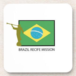 MISIÓN LDS DEL BRASIL RECIFE POSAVASOS DE BEBIDA